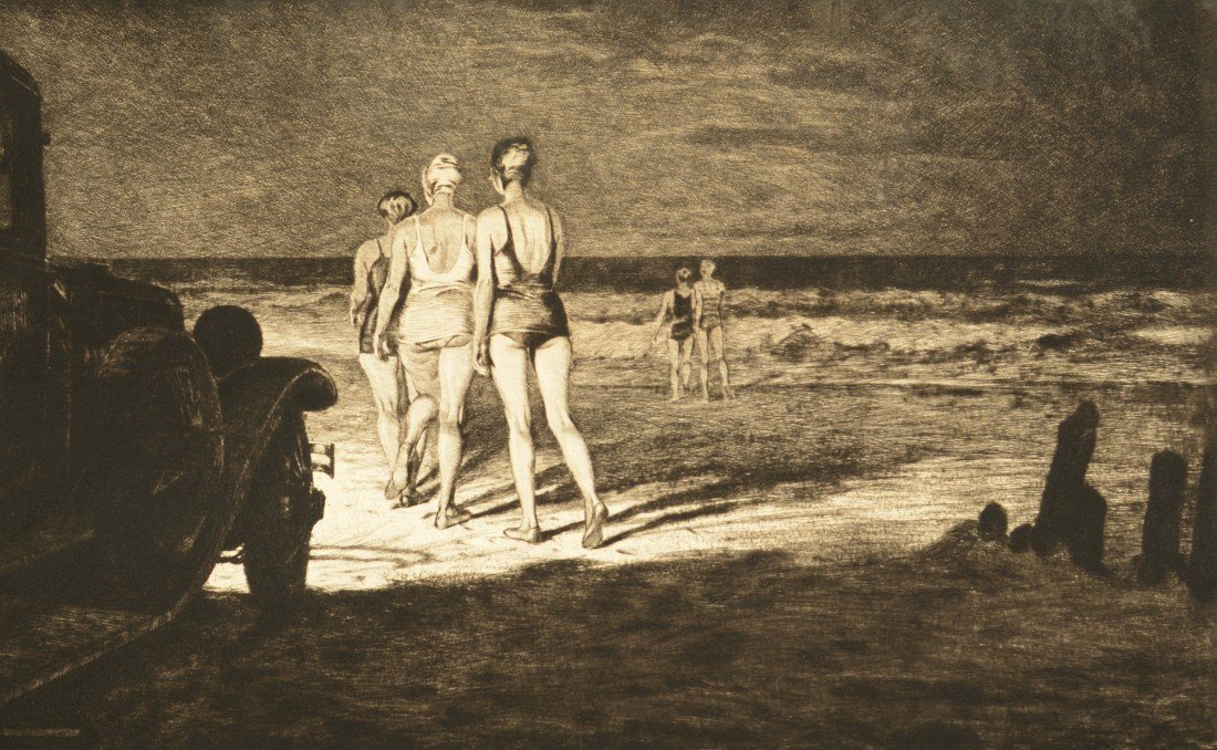 MARTIN LEWIS, (American, 1881-1962), DOWN TO THE SEA AT