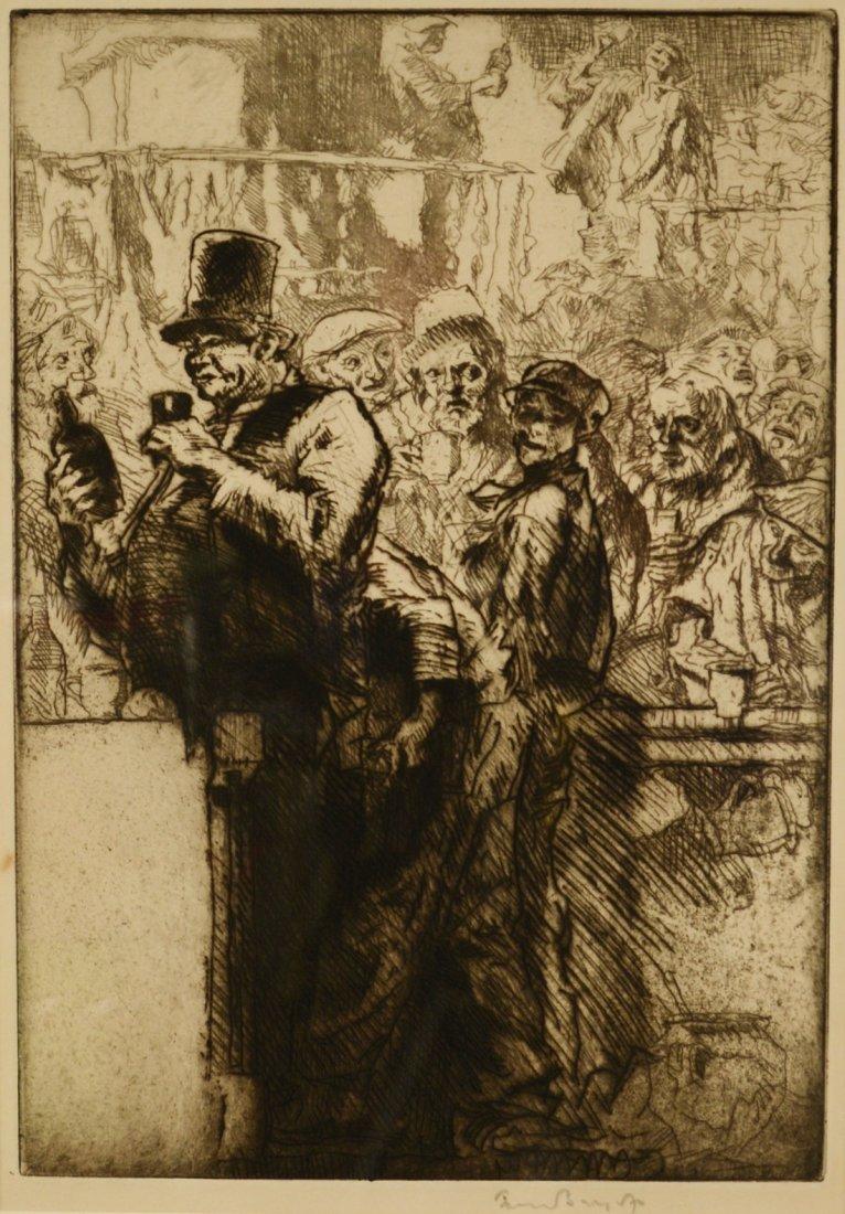 FRANK BRANGWYN, (English, 1867-1956), BAR SCENE,