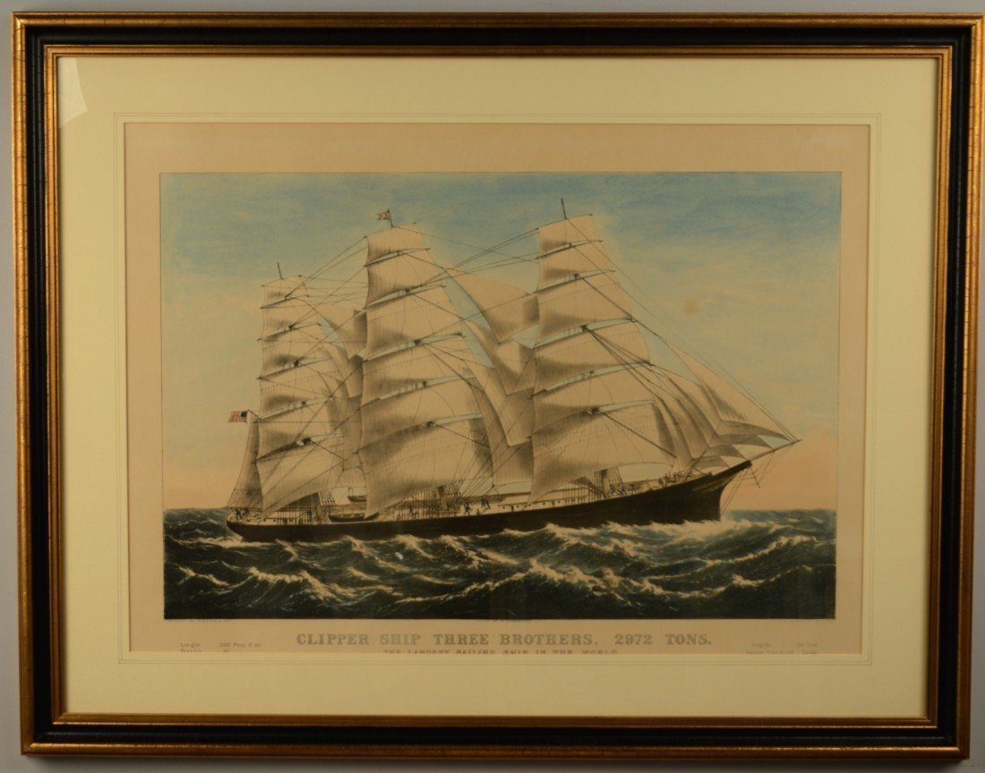 CURRIER & IVES , (American, 19th century), CLIPPER SHIP