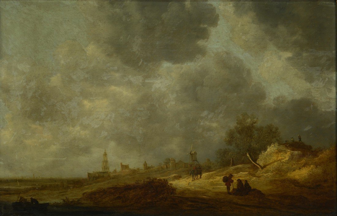 JAN VAN GOYEN, (Dutch, 1596-1656), CUNERA TOWER