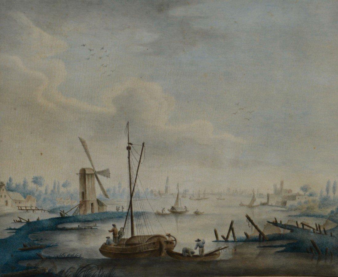 G. VAN DER DUSSEN, (Flemish, 18th century), RIVER