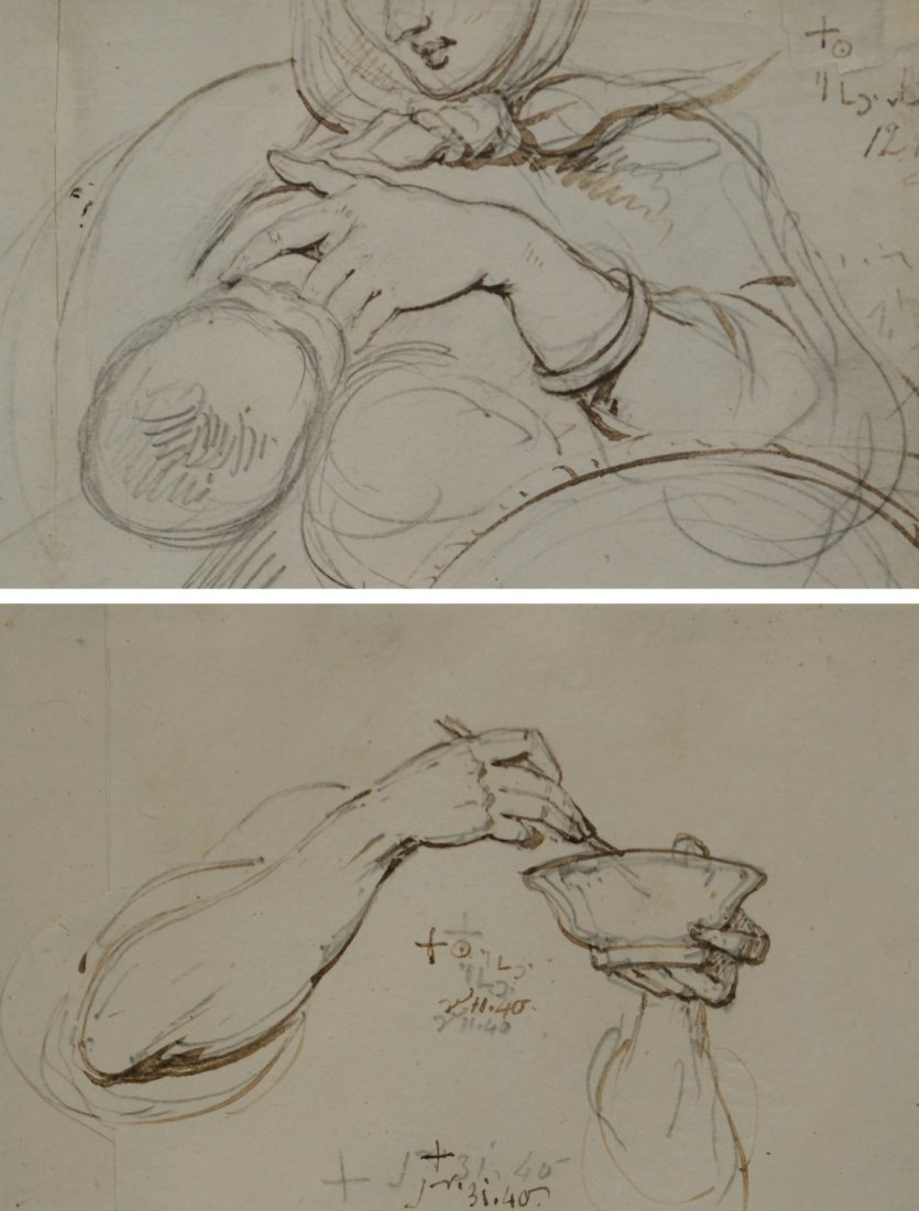 GEORGE CHINNERY, (English, 1774-1852), TWO PENCIL AND