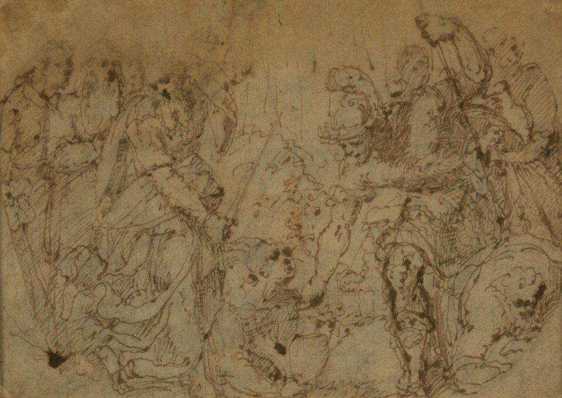 MANNER OF GUILIO ROMANO, (Italian, 1499-1546), BATTLE