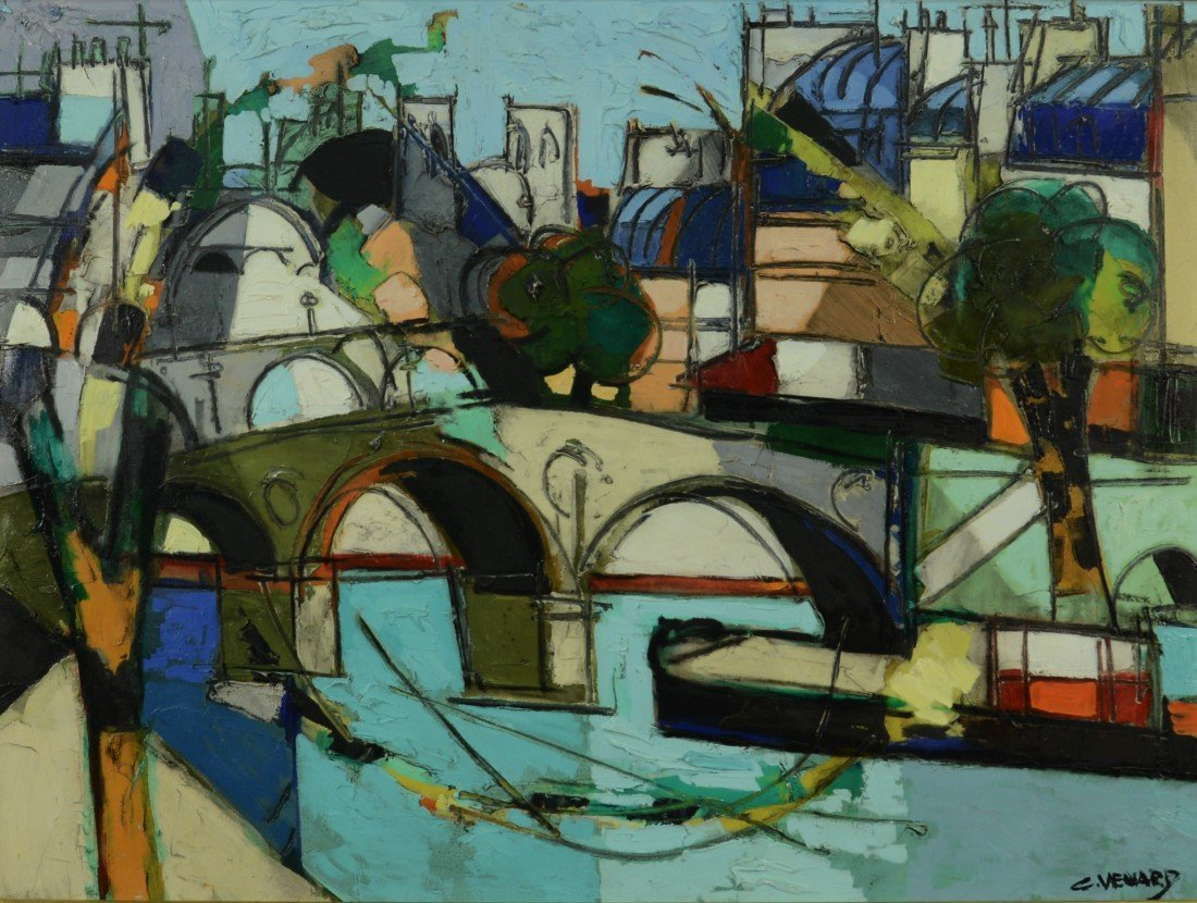CLAUDE VENARD, (French, 1913-1999), PARIS, oil on