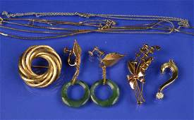 COLLECTION OF 14K GOLD JEWELRY