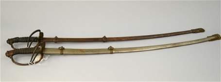PAIR OF CIVIL WAR SWORDS;