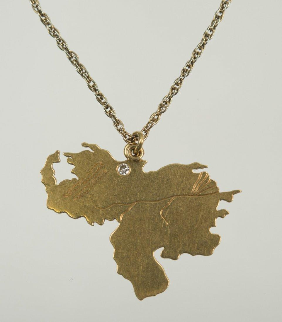 18K YELLOW GOLD AND DIAMOND VENEZUELA PENDANT, Cartier