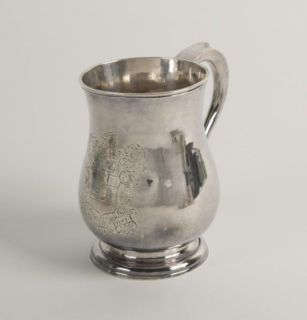 AMERICAN SILVER CANN, Boston, mid 18th century