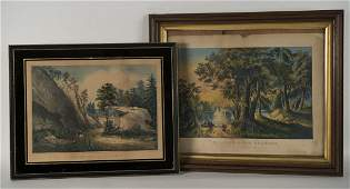 CURRIER & IVES (American, 19th century) THREE PRINTS