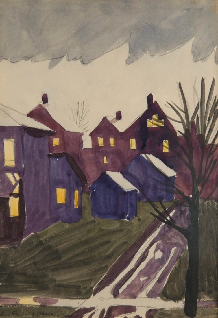 CHARLES EPHRAIM BURCHFIELD, (American, 1893-1967), WET