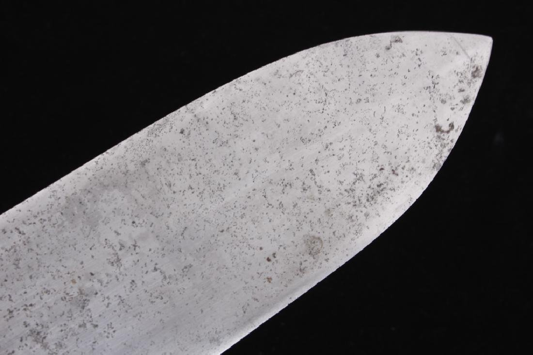 Plains Beaver Back Dag Knife Silver Inlay 19th C. - 10