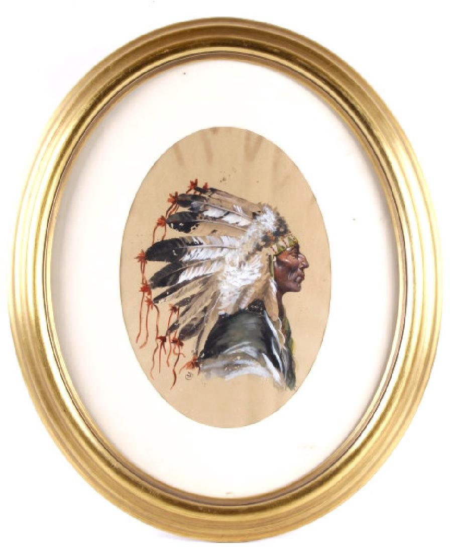 Seminole Chief Painting by Seth Eastman c1840-1850