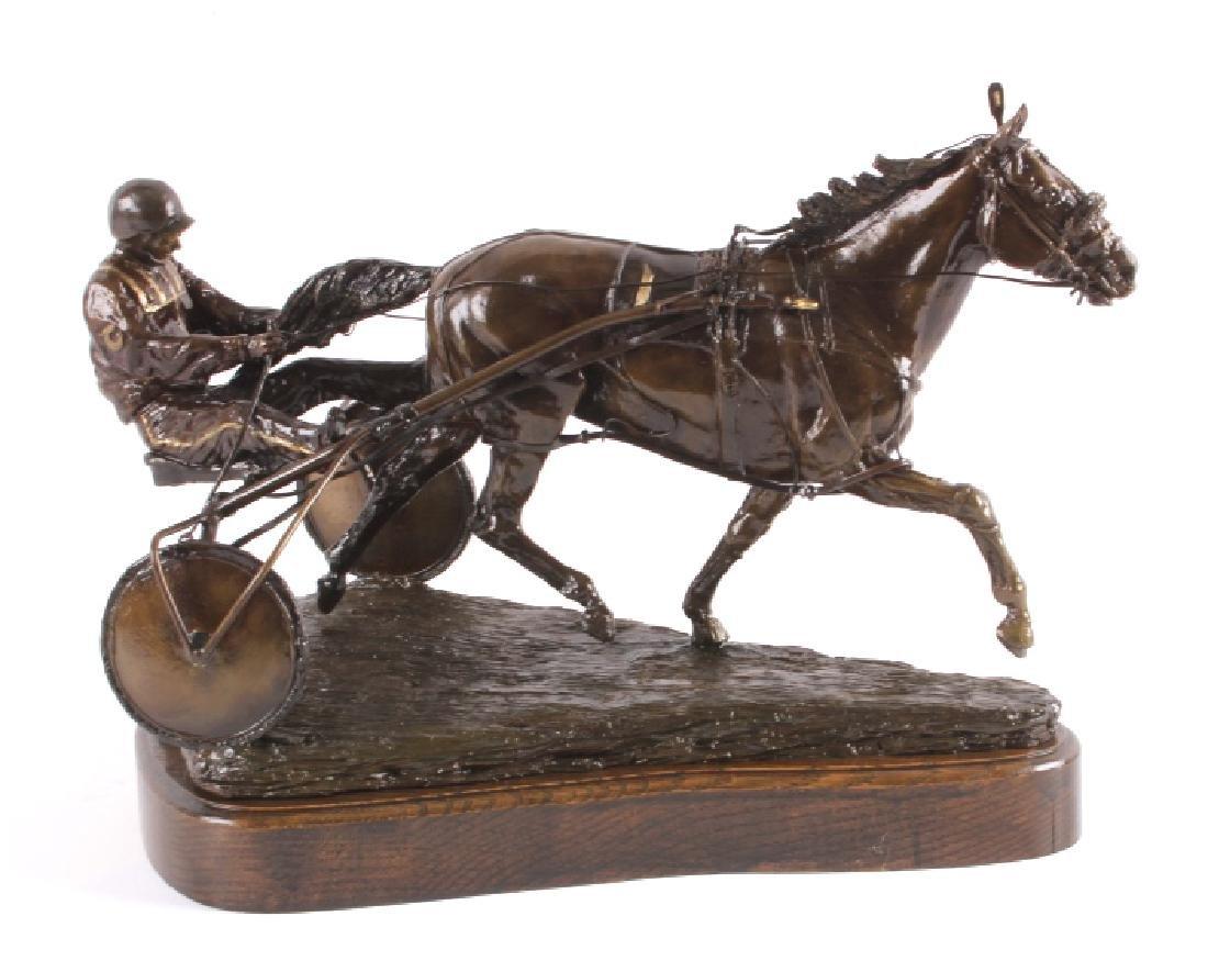 Claudia Steinley Horse Racing Bronze Sculpture - 10