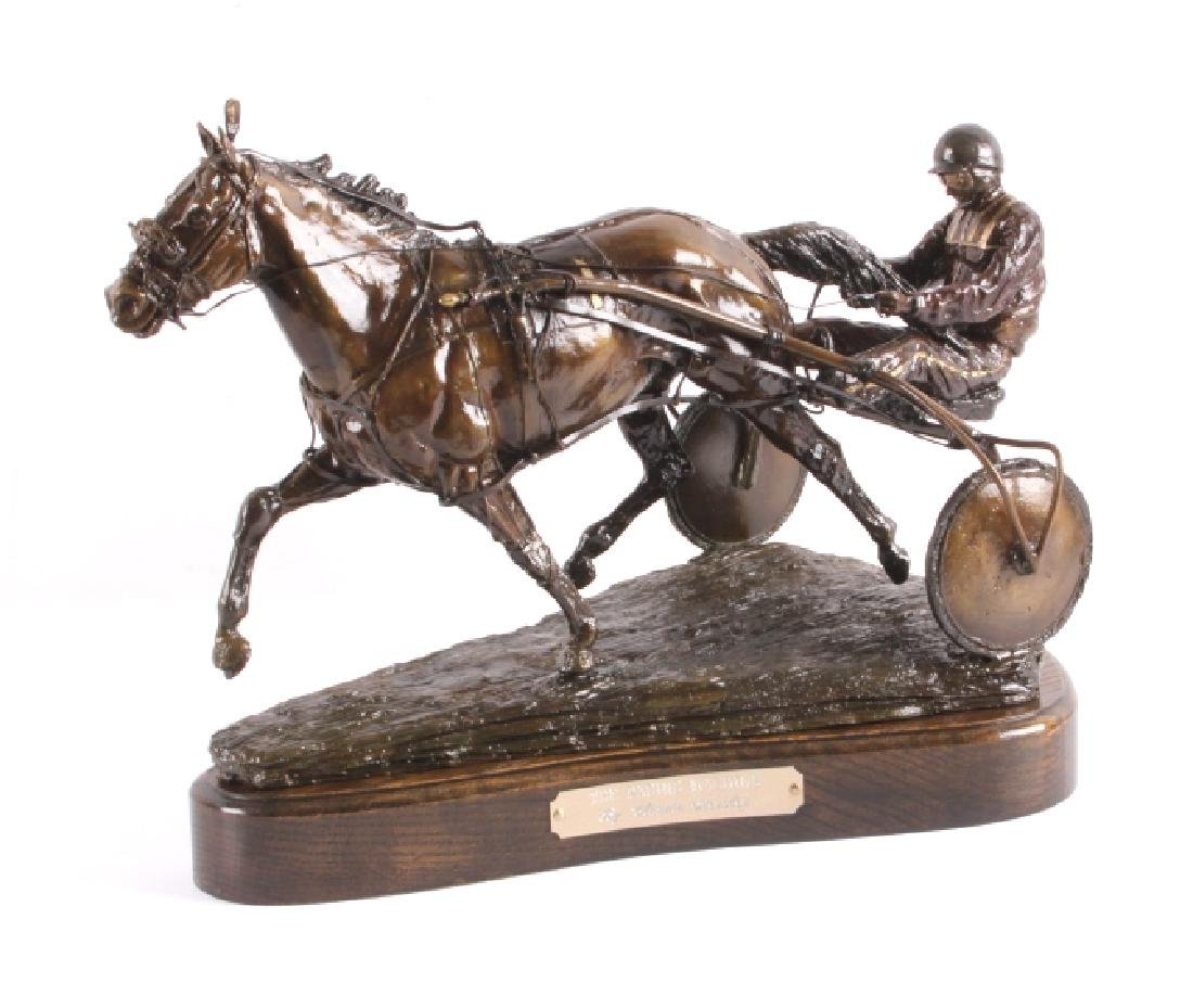 Claudia Steinley Horse Racing Bronze Sculpture
