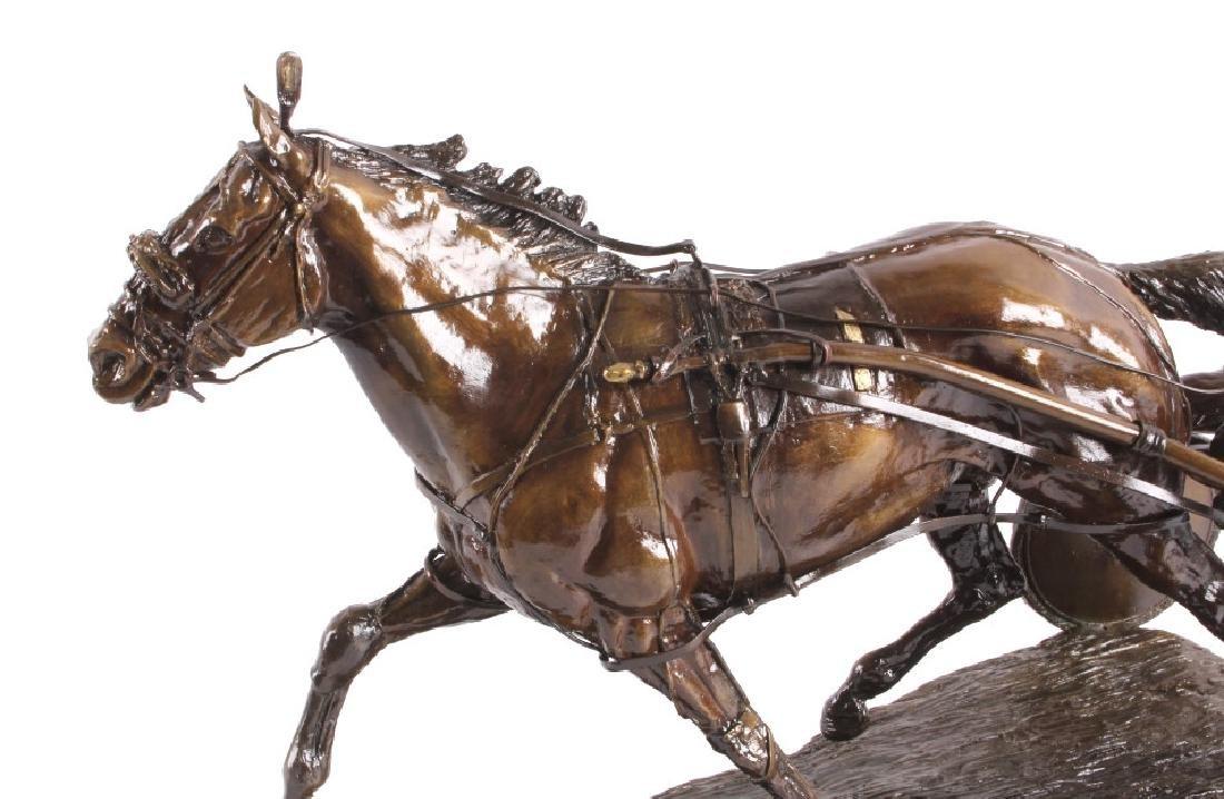 Claudia Steinley Horse Racing Bronze Sculpture - 3