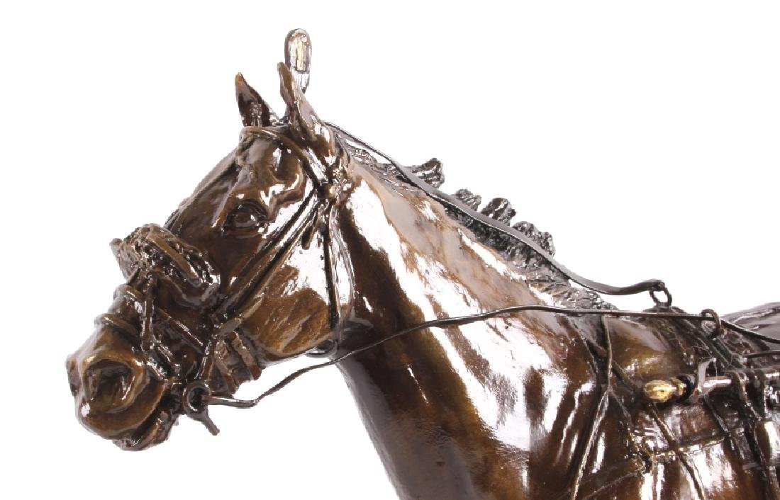 Claudia Steinley Horse Racing Bronze Sculpture - 5