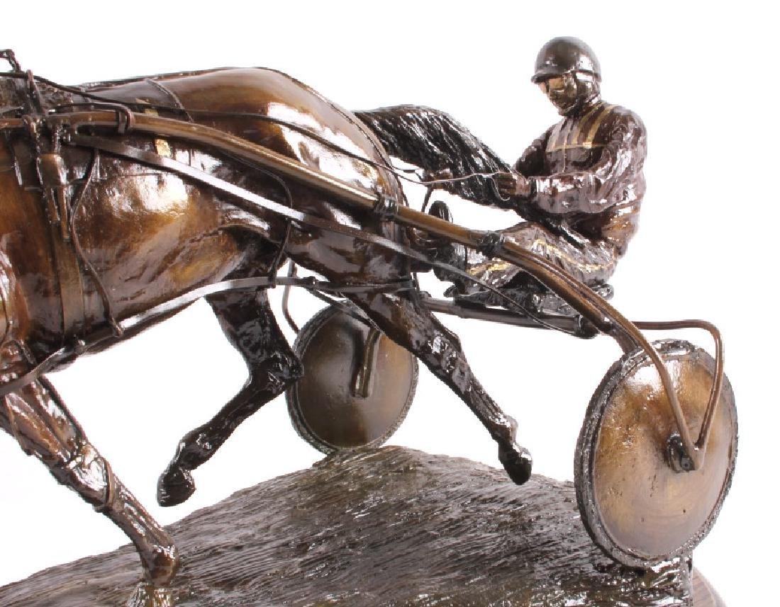 Claudia Steinley Horse Racing Bronze Sculpture - 7