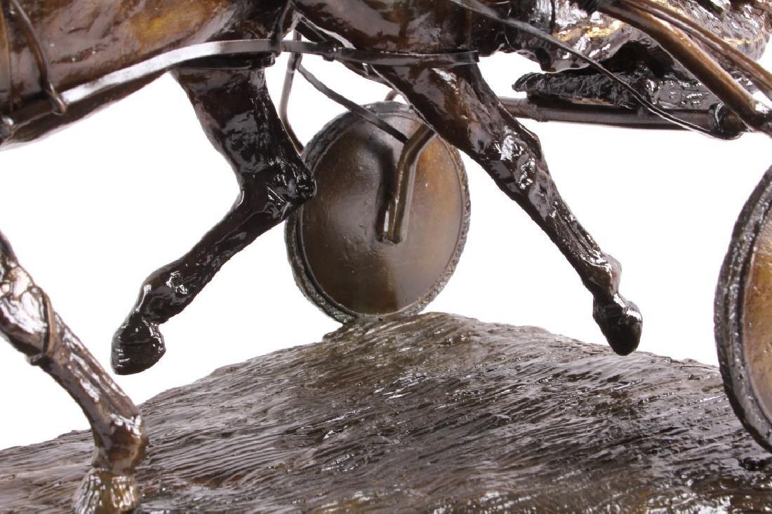 Claudia Steinley Horse Racing Bronze Sculpture - 8