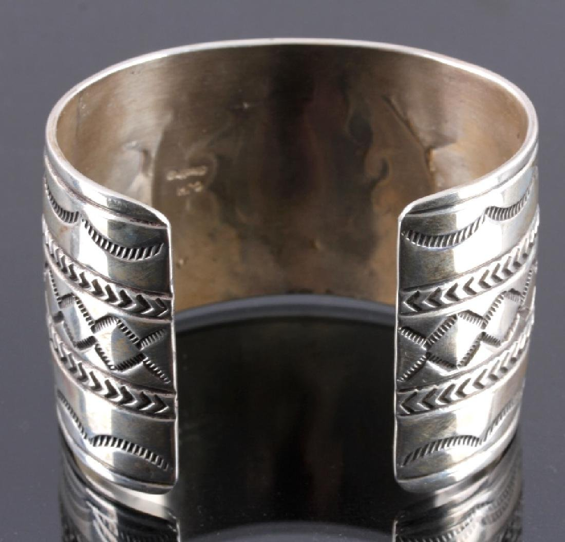 Christopher Hoskie Navajo Sterling Turquoise Cuff - 8