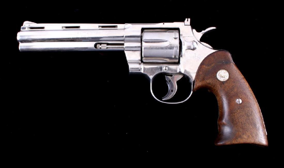 Colt Python 357 Magnum Nickel Revolver RARE c 1969