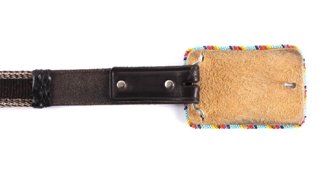 Deer Lodge Prison Made Horsehair Belt & Buckle - 10
