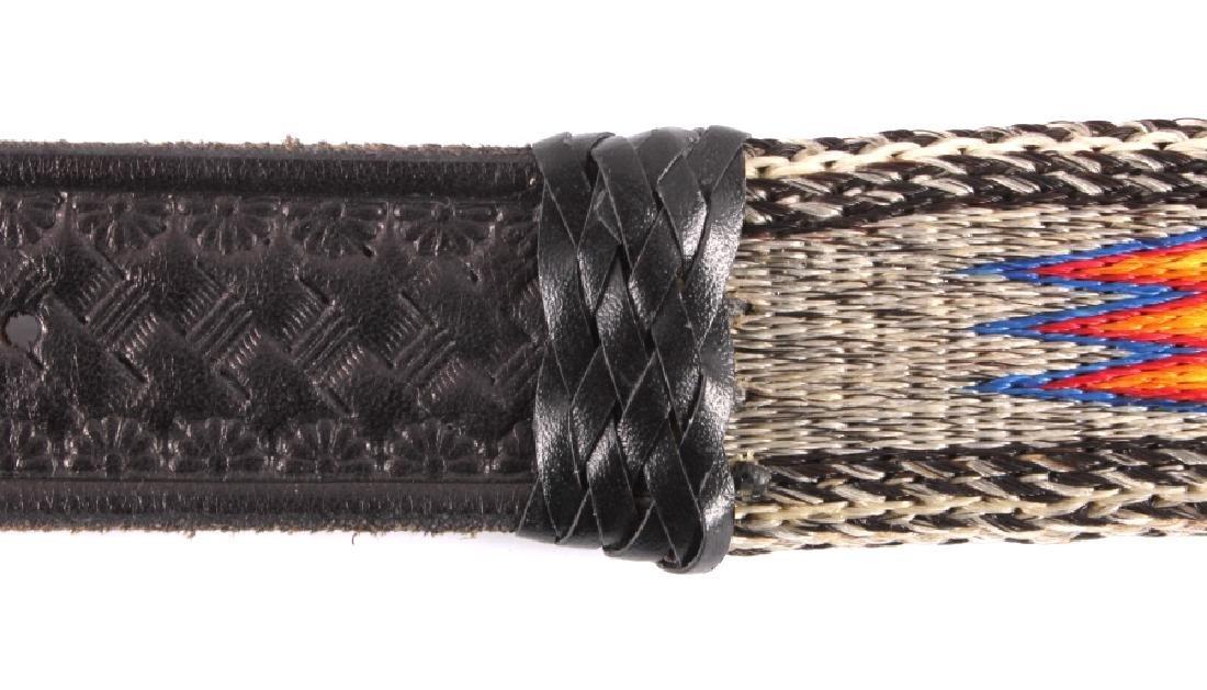 Deer Lodge Prison Made Horsehair Belt & Buckle - 7
