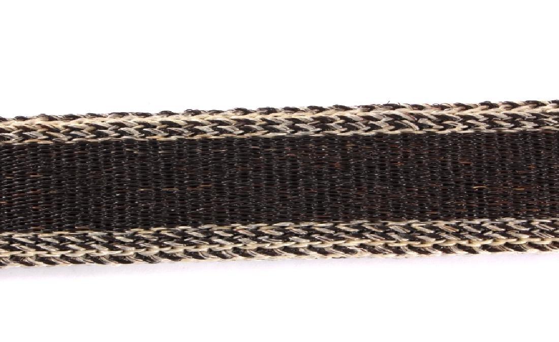 Deer Lodge Prison Made Horsehair Belt & Buckle - 9