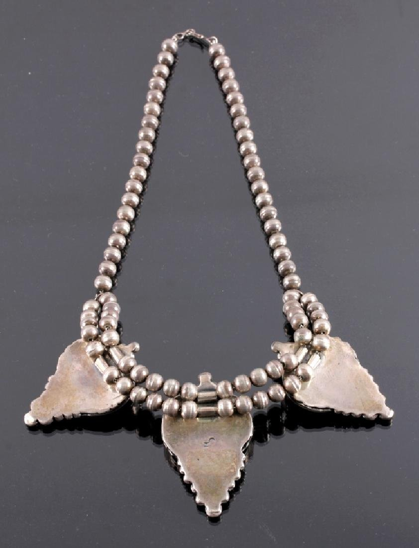 Signed Navajo Sterling Silver Squash Blossom - 7
