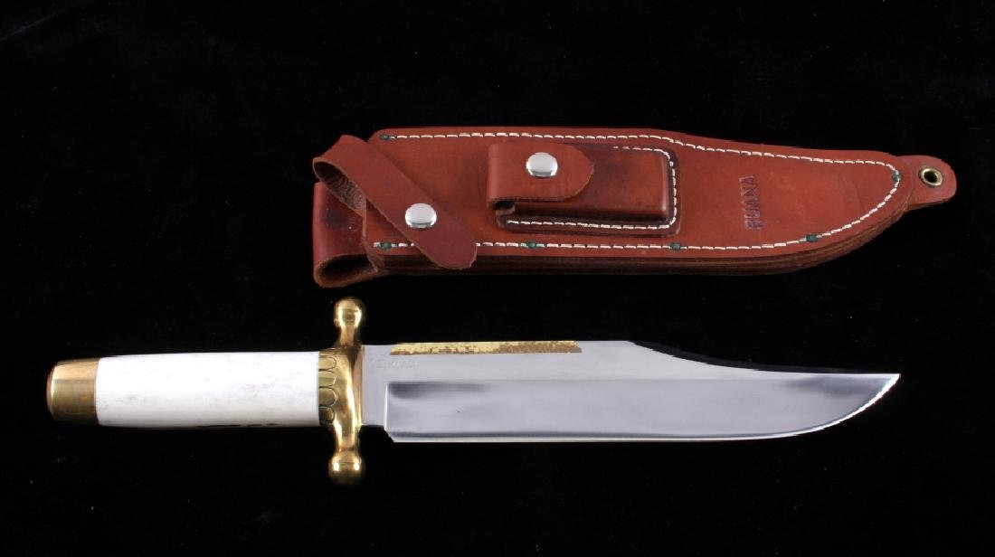 Ruana Bowie Knife & Scabbard Bonner Montana