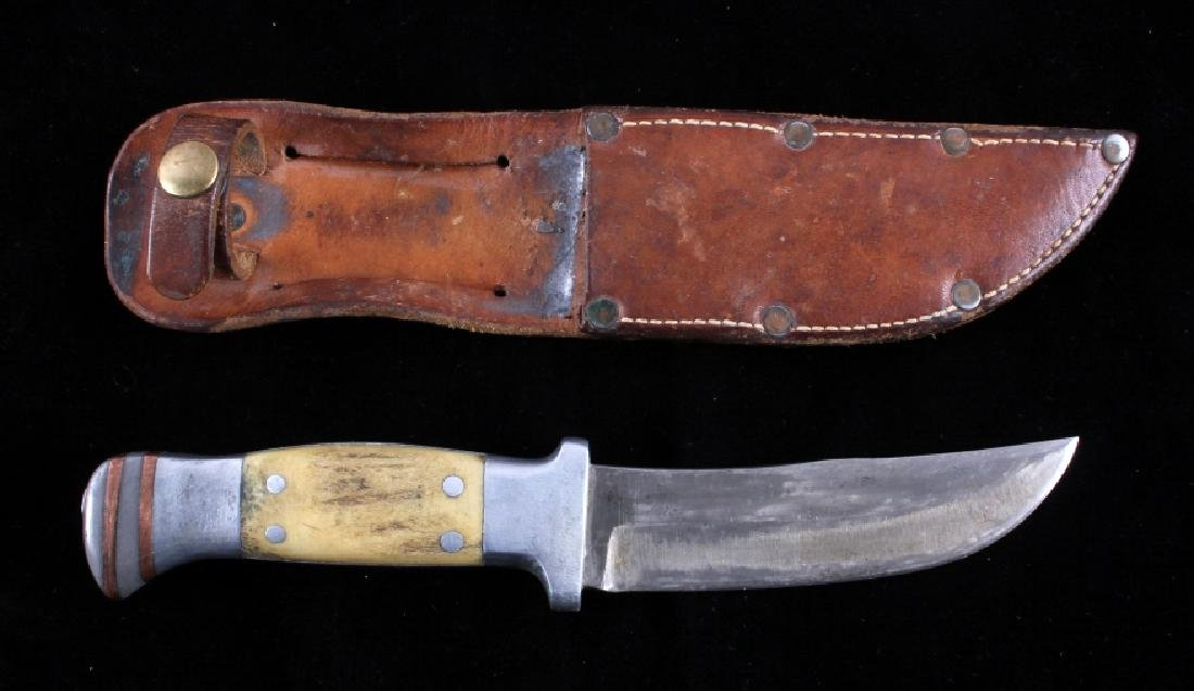 RARE Custom R.H. Ruana Knife Bonner Montana