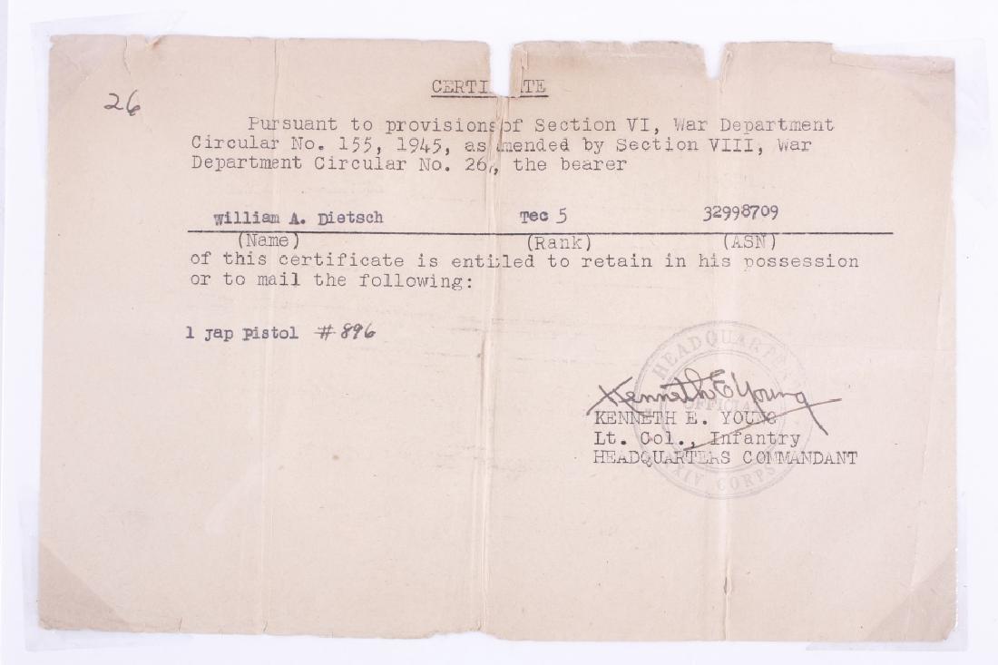 "Pre-WWII Japanese Papa Nambu ""TGE"" Holster & Ammo - 4"