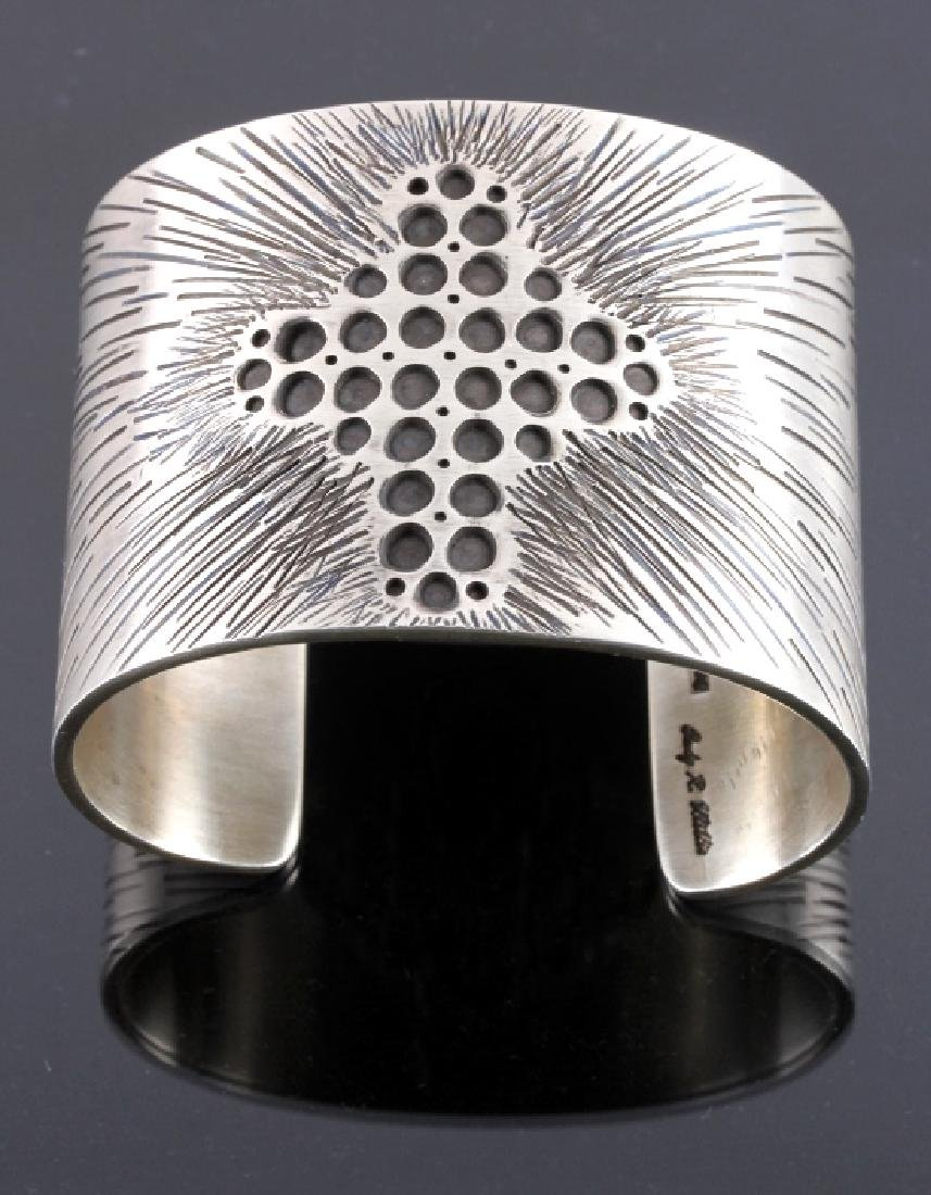Cody Willie Heavy Sterling Silver Cross Cuff - 2