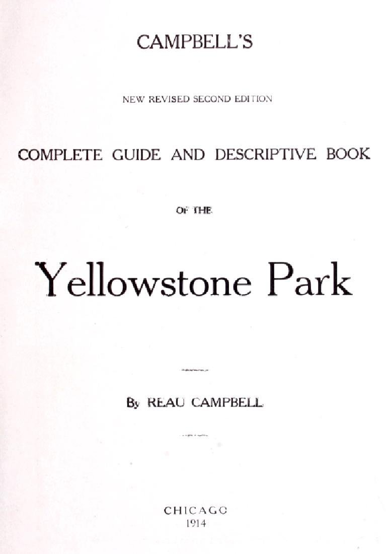 1914 Campbell's Yellowstone National Park Guide - 3