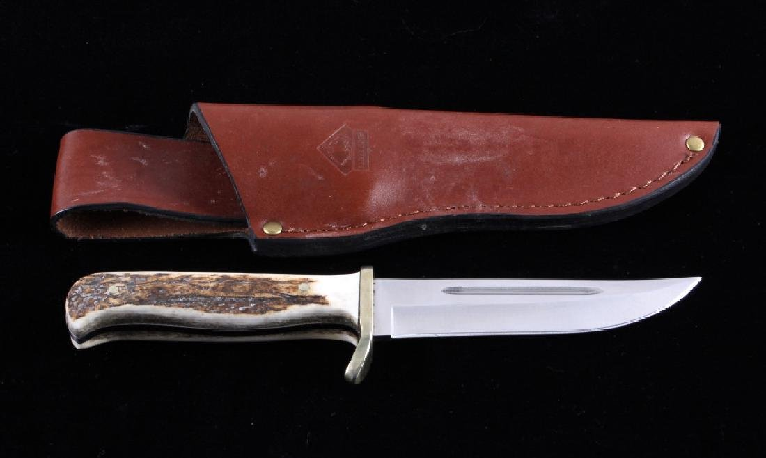 Puma Trail Guide Knife and Leather Scabbard