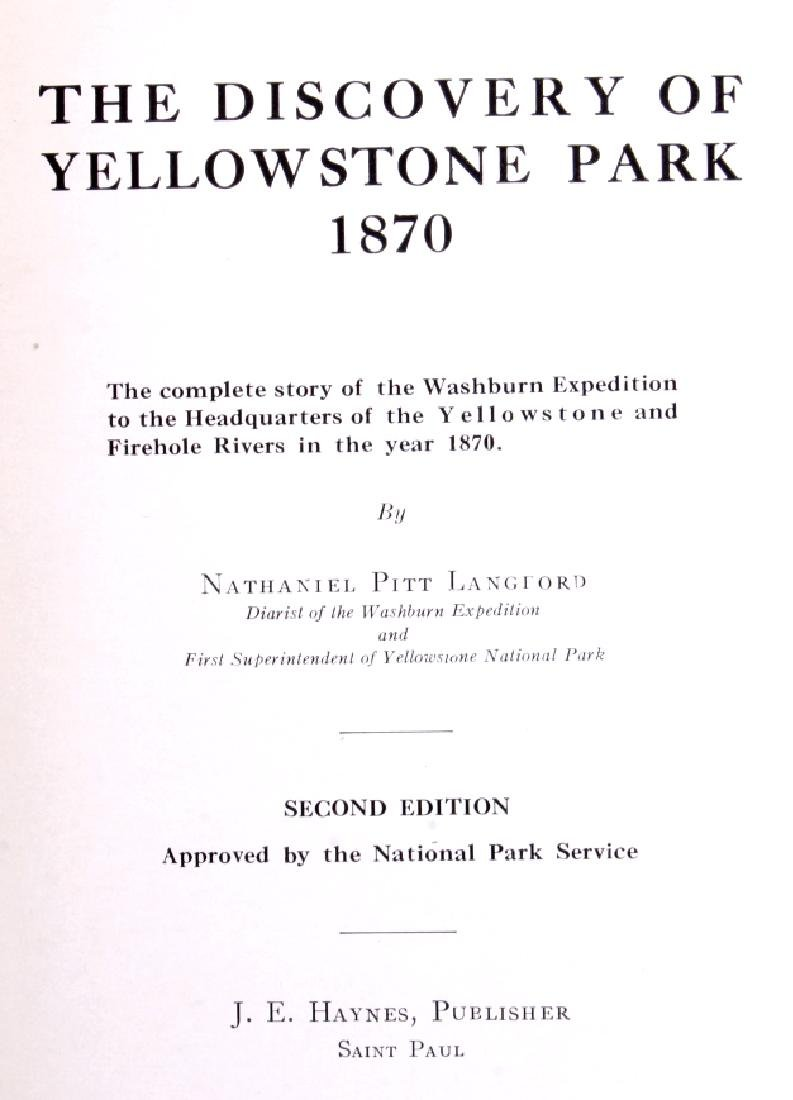 Discovery of Yellowstone Park 1870 N.P. Langford - 3