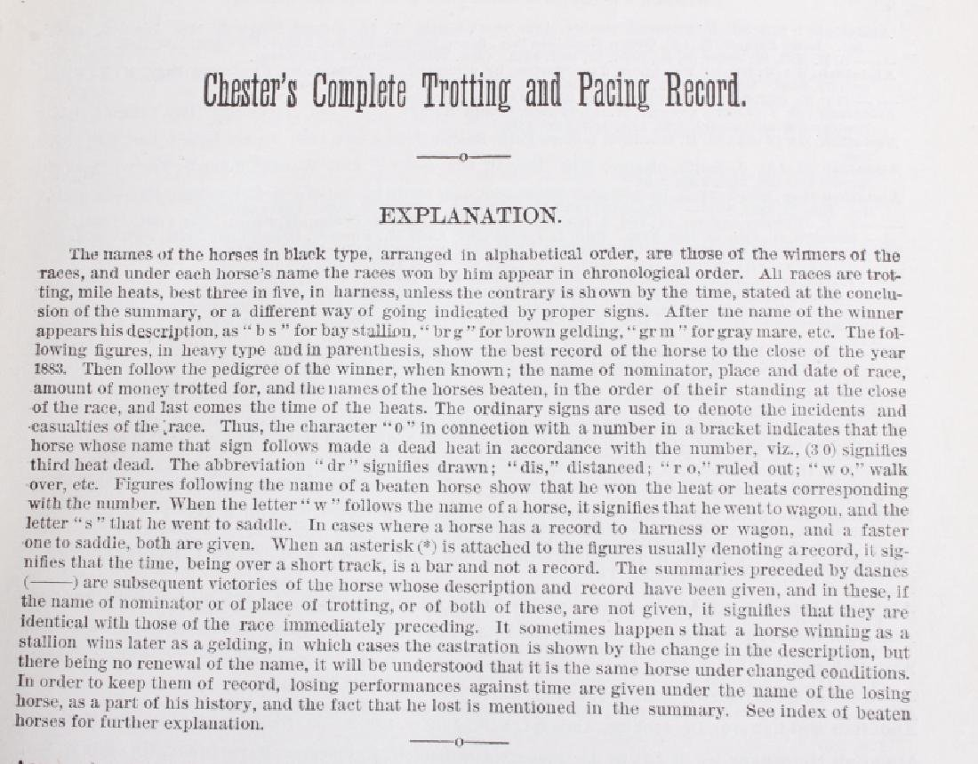 Chester's Complete Trotting & Pacing Record 1883 - 7