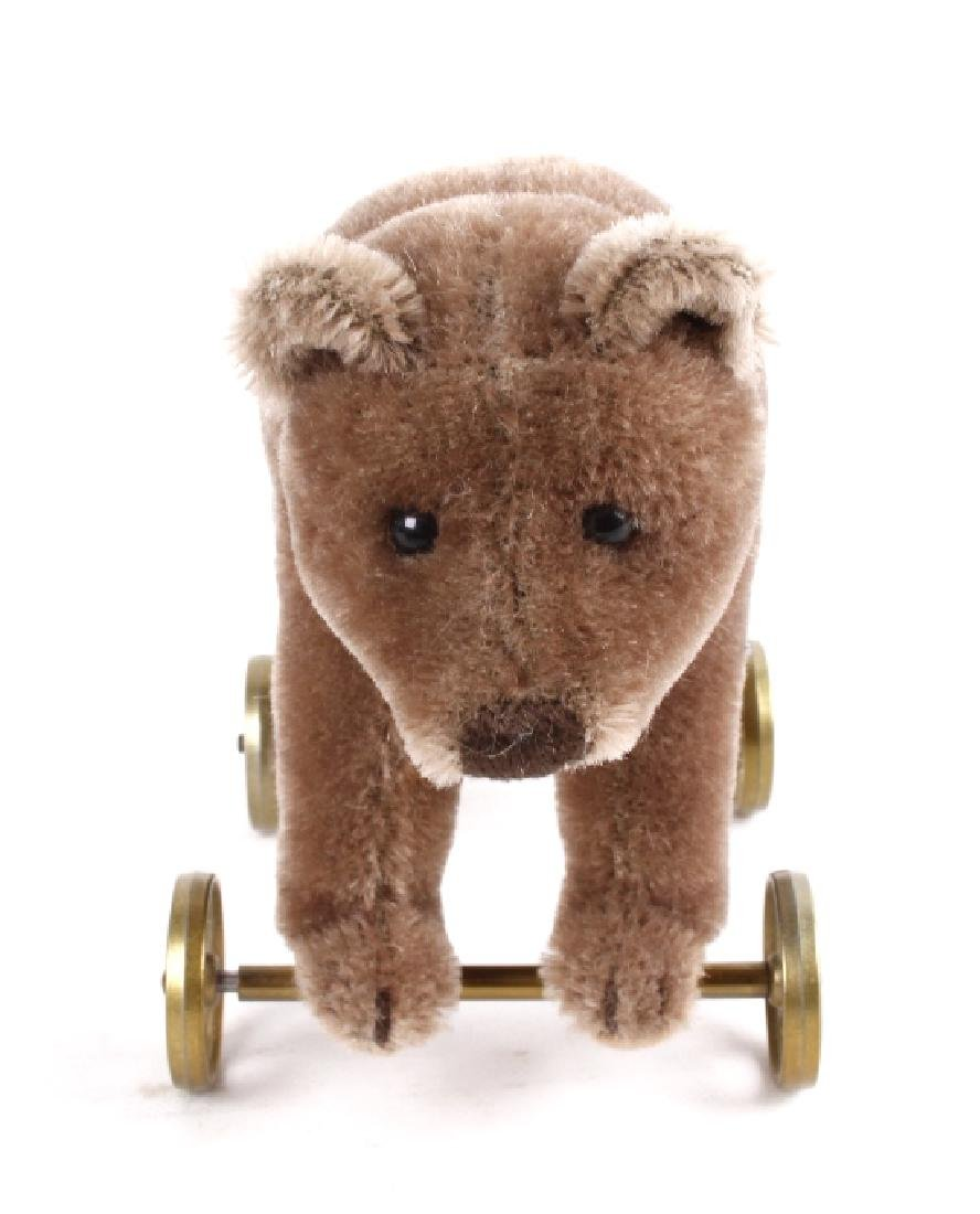 Steiff Bear On Wheels - 2