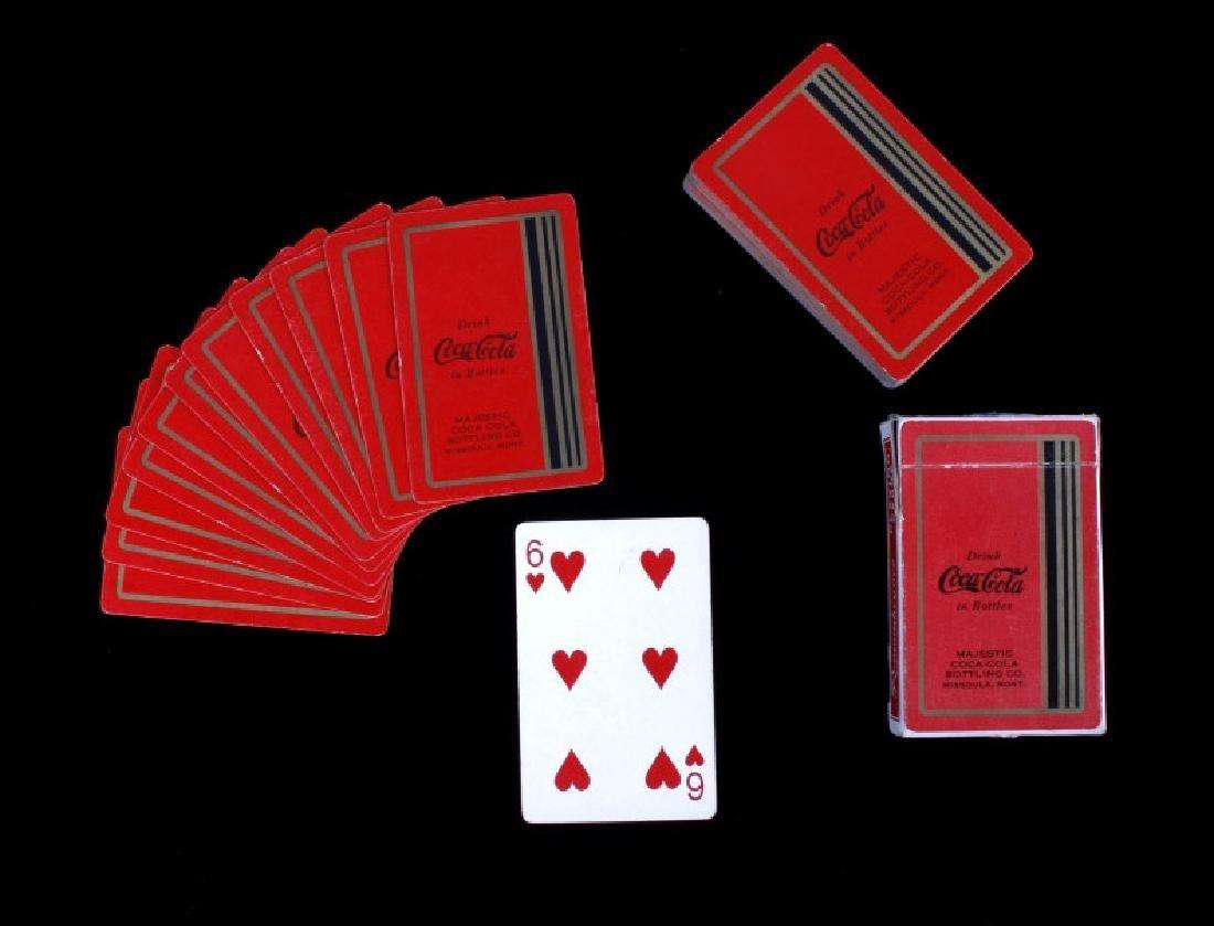 Missoula Coca-Cola Playing Cards Circa 1934