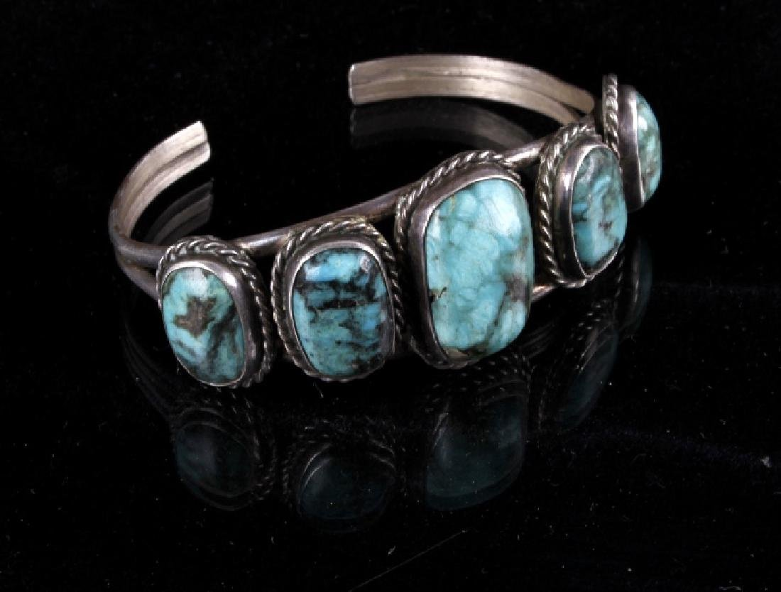 Navajo Sterling & Turquoise Bracelet