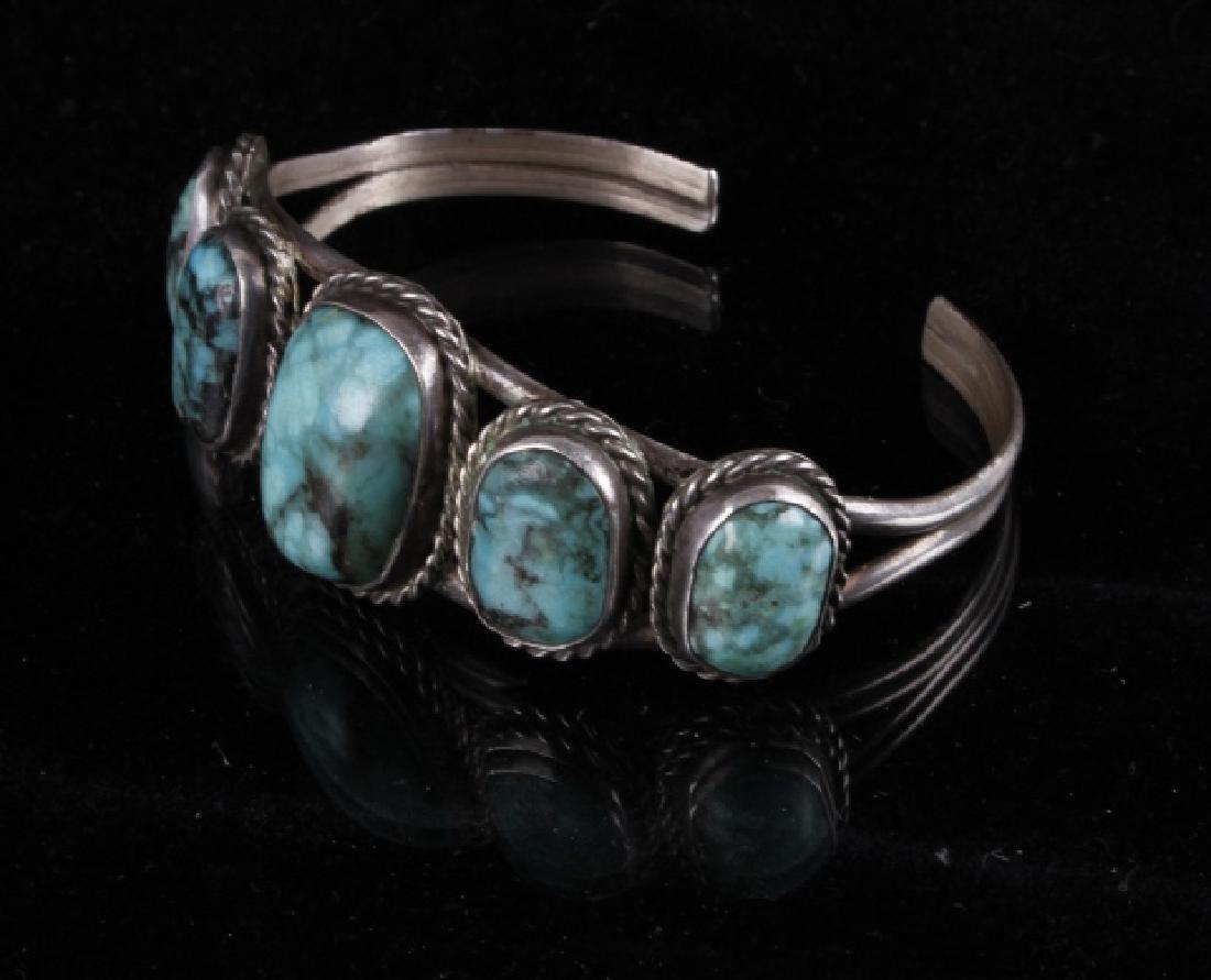 Navajo Sterling & Turquoise Bracelet - 2