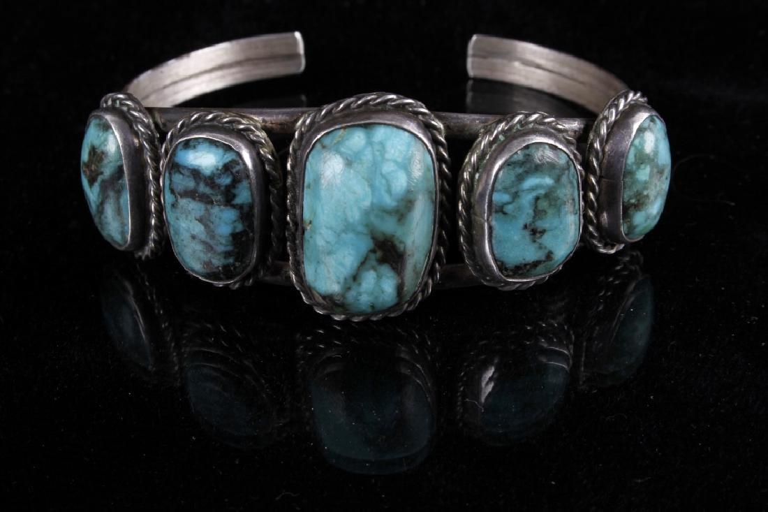 Navajo Sterling & Turquoise Bracelet - 7
