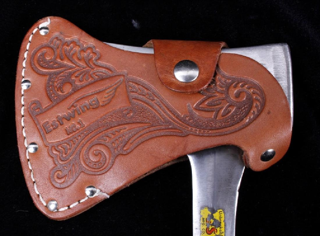 Pair of Hatchets With Leather Sheaths - 3