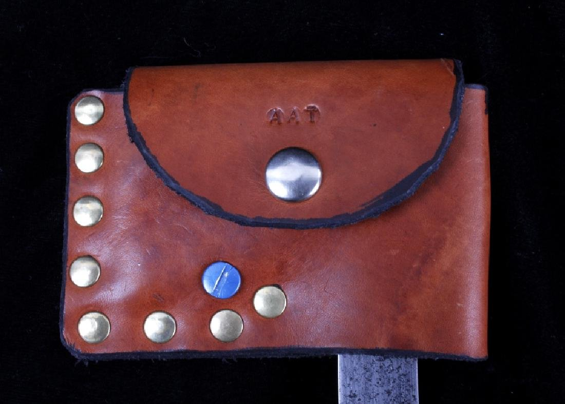 Pair of Hatchets With Leather Sheaths - 9