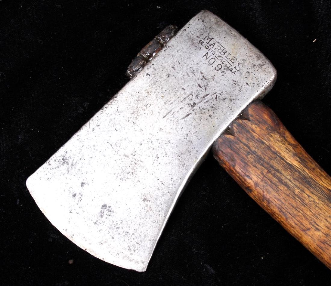 Marbles Hunting Knife & No. 9 Hatchet With Sheath - 5