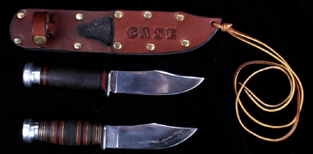 Case XX Hunting Knives With Custom Leather Sheath
