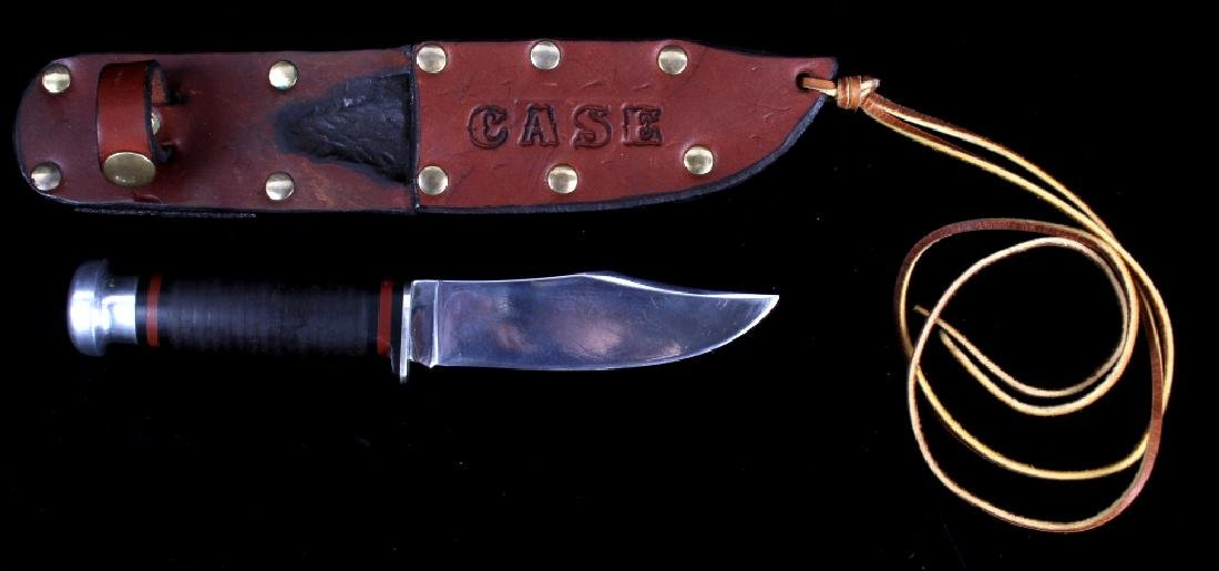 Case XX Hunting Knives With Custom Leather Sheath - 2