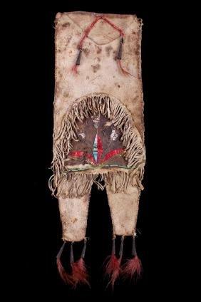 Mandan Quilled Tobacco Pipe Bag circa 1850