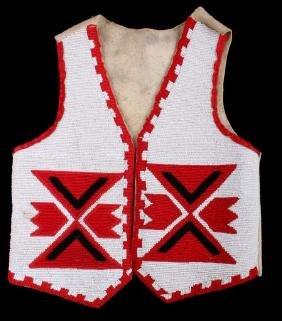 Blackfoot Fully Beaded Vest circa 1910