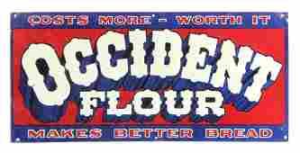 Original Occident Flour Advertising Sign
