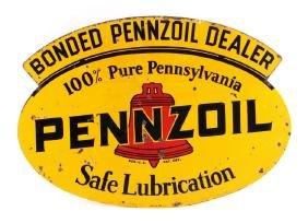 1938 Pennzoil Double Sided Dealer Advertising Sign